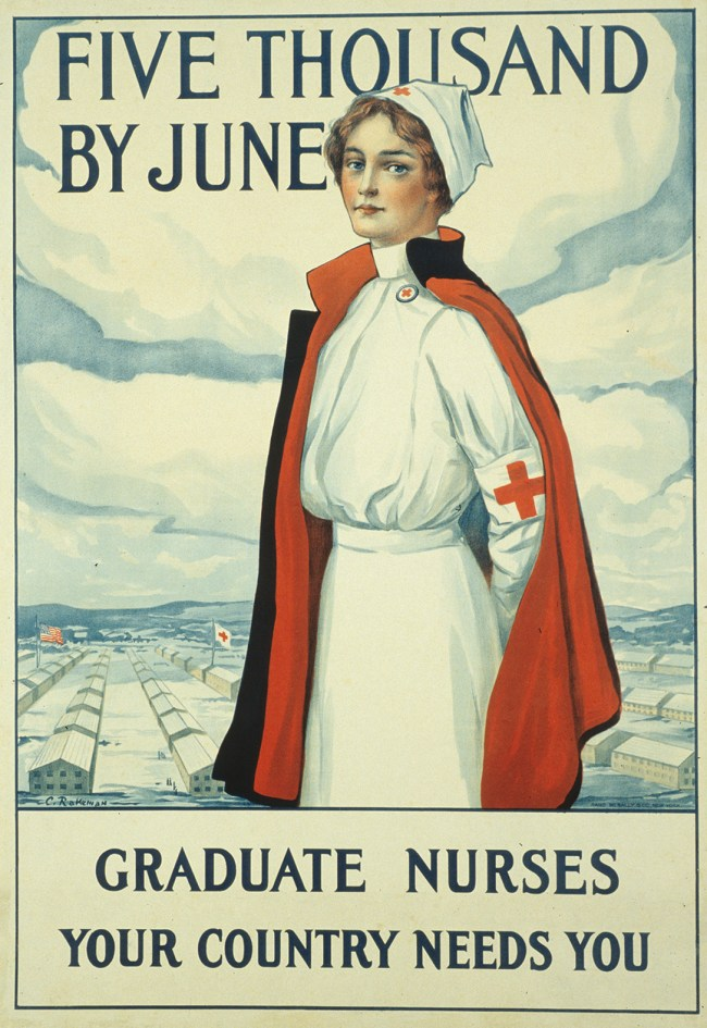 Recruitment poster for graduate nurses.