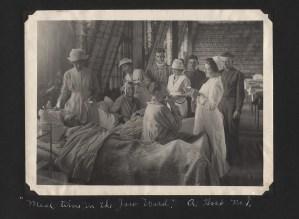 Soldiers being fed by nurses