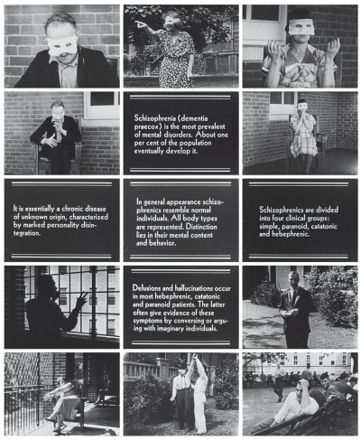 A collection of 15 framed showing patient behaviors and descriptive intertitles.
