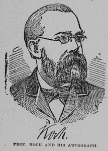 Portrait, similar to the engraving above, printed in a newspaper.