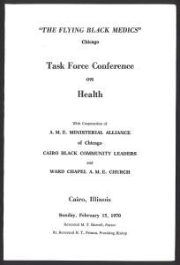 A printed program cover.