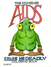 The cover features the title and cartoon figure with big feet, yellow bulgin eyes and a green furry body.