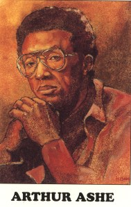 Illustration of Arthur Ashe.