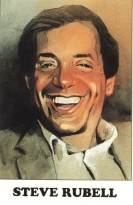 Illustration of Steve Rubell.