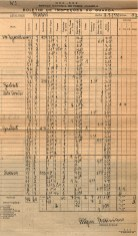 A complex tabel filled in by hand recording the results of an inspection of an area for mosquitos.