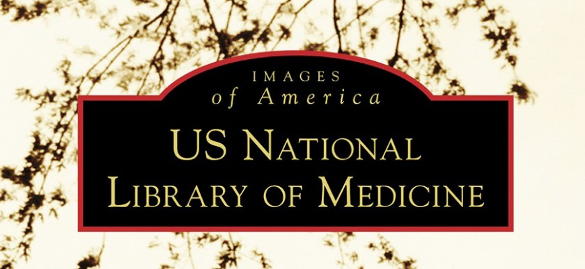 detail from the cover of a new illustrated history of the National Library of Medicine.