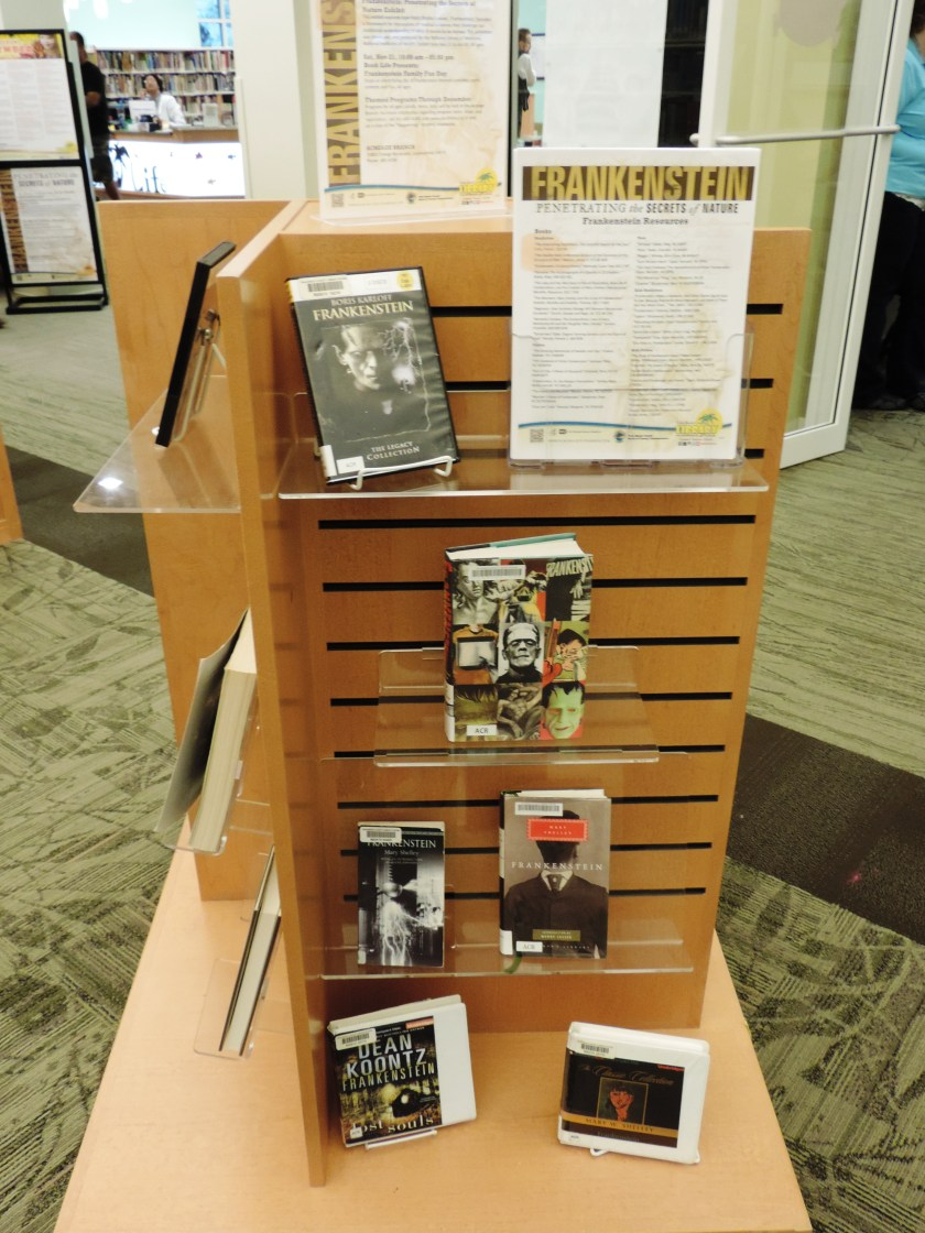 PBCLS Frankenstein Exhibit Book Display and Bibliography