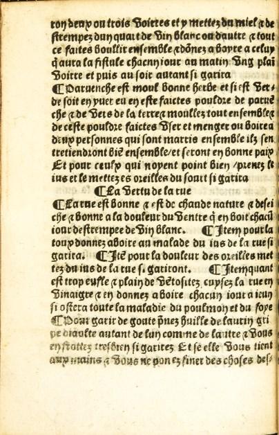 Text from Le Traicte Deseaues.