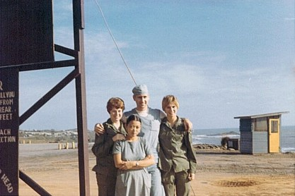91st Evac, with Friends, 1970