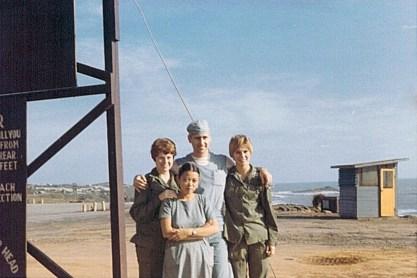 91st Evac, with Friends, 1970