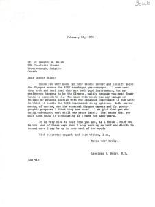 A typewritten letter