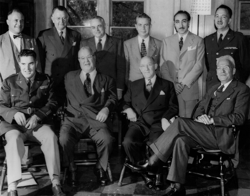 Black and white photograph of honorary consultants.