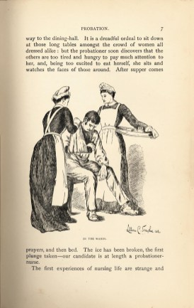Drawn illustration of nurses treating an injured man.