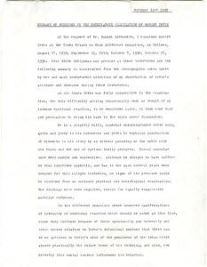 A typwritten page headed October 31, 1938.