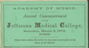 Green paper ticket.