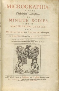 Title page of Hooke's Micrographia