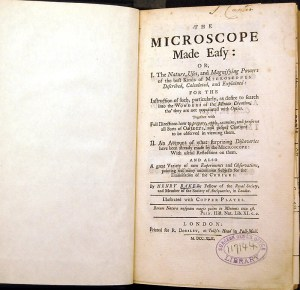 Title page of The Microscope Made Easy