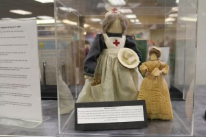 Two cloth nurse dolls