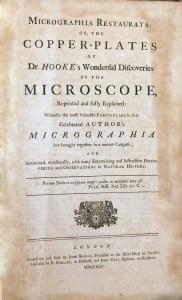 Title page of Micrographia Restaurata