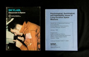 Two pamphlets, Skylab, Classroom in Space and Psychological, Sociological, and Habitability Issues of Long-Duration Space Missions.