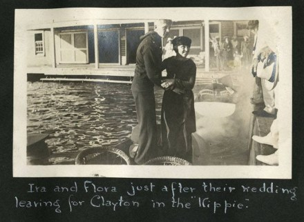 Leek Island Scrapbook photo of a couple.