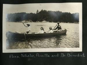 Leek Island Scrapboook photo of four people in a boat.
