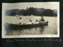Leek Island Scrapboook photo of four people in a boat.