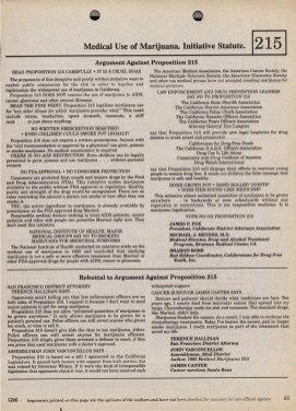 November 5, 1996 Ballot Arguments for and against 218.