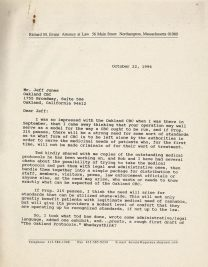 Letter from a Massachusetts Attourney about standards and policies for the medical use of marijuana.