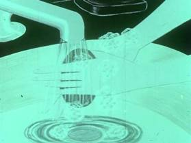 Animated still from a film showing handwashing.