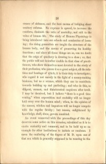 Page 26 of Charles A. Lee's Valedictory Address to the Graduating Class of Geneva Medical College featuring his comments on Elizabeth Blackwell receiving her medical degree.