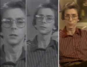 A collage of three images of the same young white man.