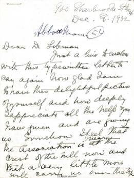 A handwritten document.