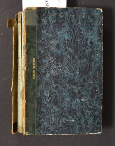 A book with the leather spine and cover entierly detatched showing deterioration of the leather.