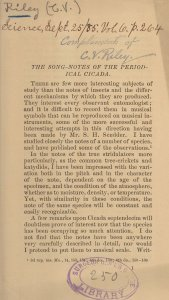 First page of an article, stamped with a library stamp and author's stamp as well as library annotations.