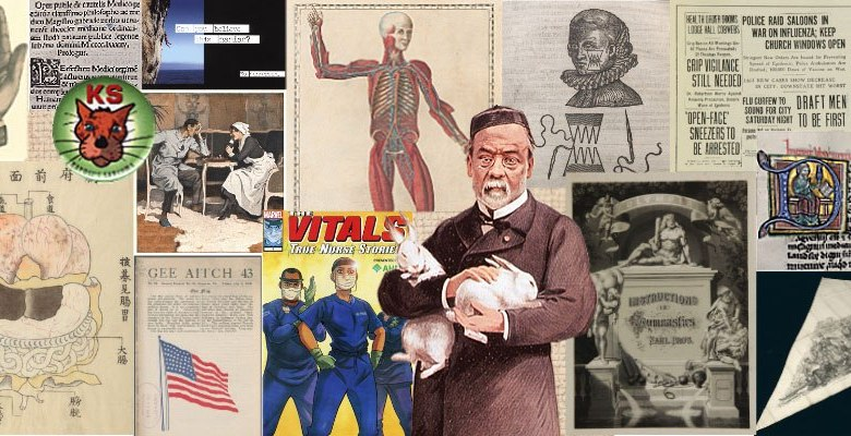 A collage of images from the NLM_Collections instagram feed.