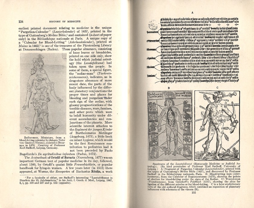 An open book showing text and anatomical diagrams