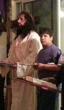 Roberto Castellanos (Jesús) y Jader