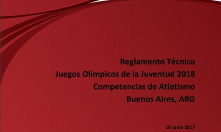 REGLAS Y NOVEDADES ATLETISMO YOUTH OLYMPIC 2018