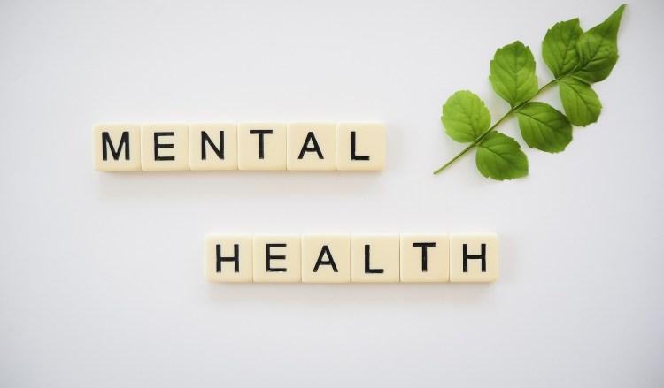 Letras formando la palabra Mental Health