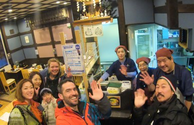Nice farewell diner, thanks Ranzan! We are off to the capital of Hokkaido to try to get our visa extended...