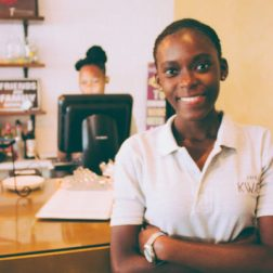 In October 2015, Yvette Ansah started Café Kwae; a neighborhood coffee shop near Accra's Kotoka International Airport with warm tones and wooden fixtures that is helping jumpstart Ghana's coffee culture. Photo credit: Circumspecte.com.