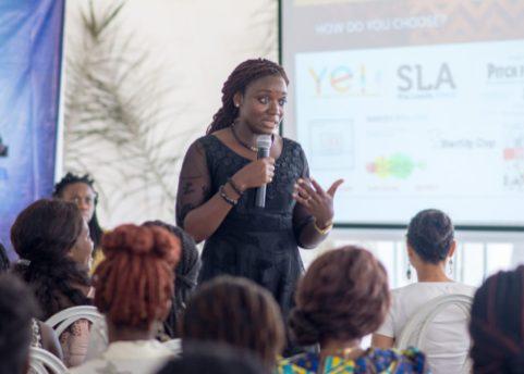 Emi-Beth Quantson at She Hive Accra / Photo Credit: SLA