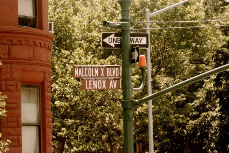 Black Lives Matter. The Malcolm X Avenue in New York. Credit: Circumspecte.com