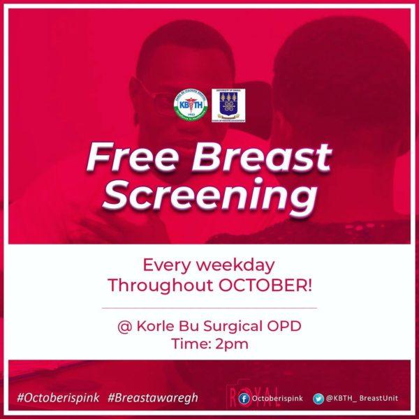 Free breast cancer screening at Korle Bu Teaching Hospital