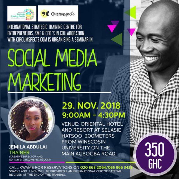 Social Media Marketing workshop with Jemila