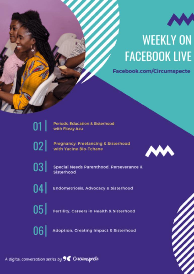Sisterhood Matters 2019 Facebook Live Sessions Flyer (4)