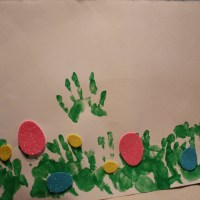 Easter Hand-Print Painting