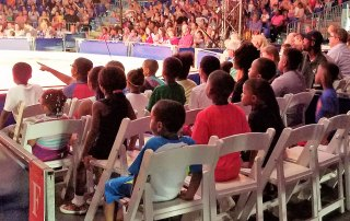 Kids enjoying the circus