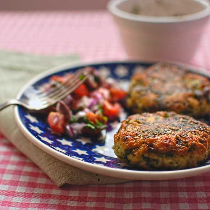 herb and mozarella fritters